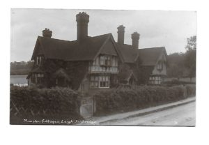 Moorden Cottages - from picture given to Society by Sue Southworth