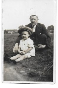 Fred Faircloth, with grandson, Bob Hinge ca 1948
