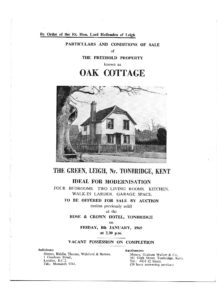 Oak Cottage - Sales Particulars, 1965.