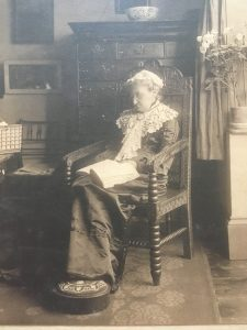 Florence Heath in Study at Woods 1859-1936