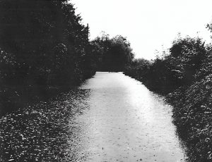 Flooding 1968 - the road leading to the Plough