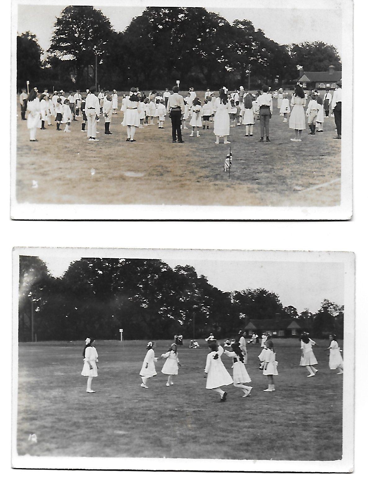 School children dancing on Leigh Green 1921