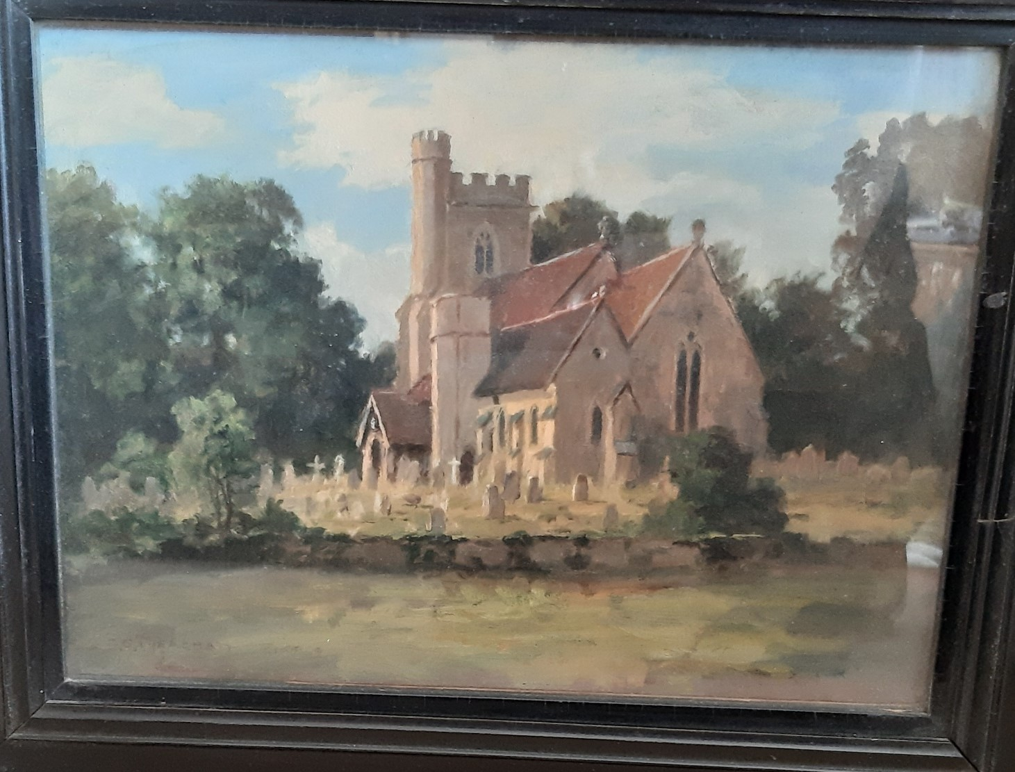 Leigh Church by Charles Stephen Meacham ca. 1930 (property of Leigh Historical Society)